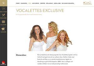 Vocaletets Exclusive på Casino Cosmopol