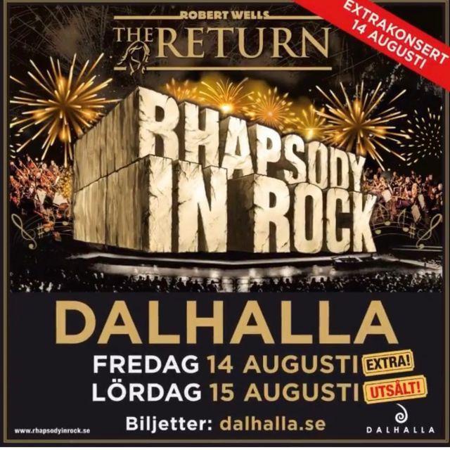 Ni kommer väl? Första föreställningen såldes slut på nolltid,😀 nu blir det en extraföreställning👏 Vi är sjukt malliga över att få vara med på detta🙋🏻♀️🙋🏼♀️🙋♀️Skynda att boka innan även denna blir slutsåld! #rhapsodyinrock #dalhalla #sweden #music #fun #friends #gig #consert #konsert #musician #singer
